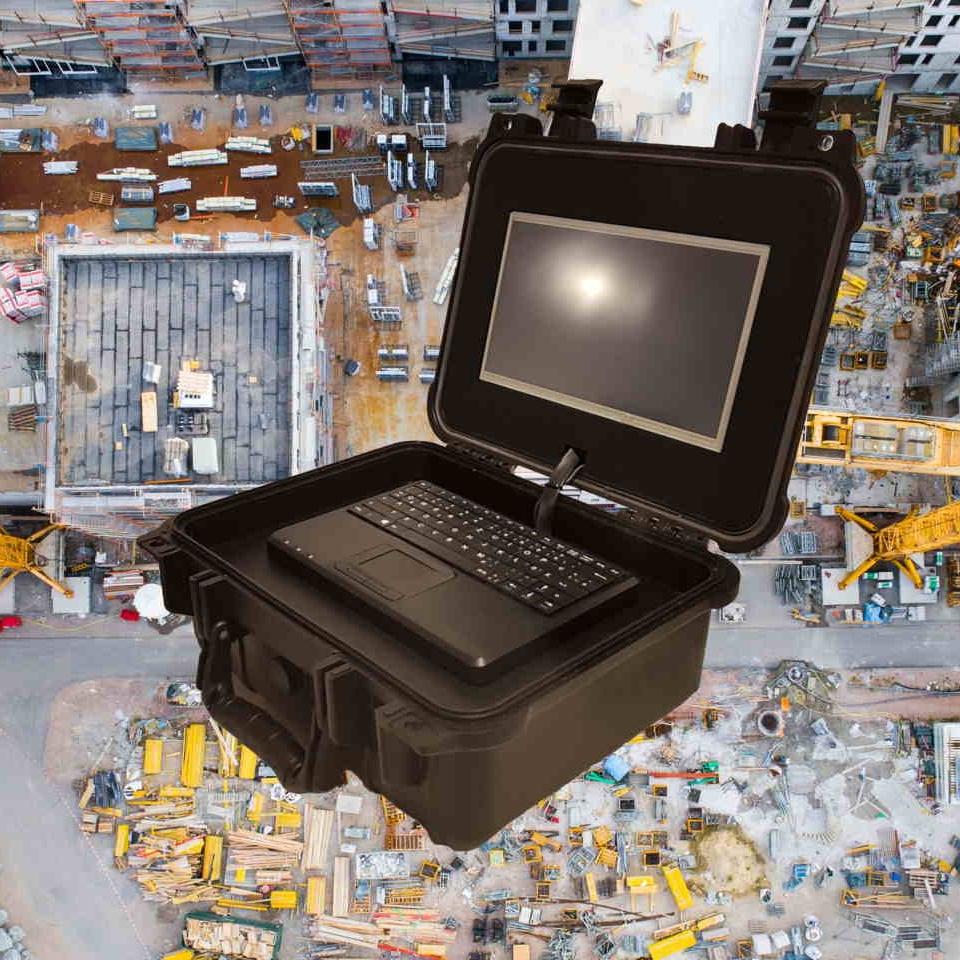 Die WatchBox gibt es auch als mobile Alarm-Video-Anlage zur einfachsten Installation für um Beispiel Baustellen.